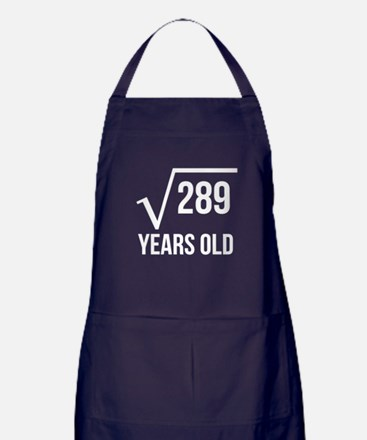 17 Years Old Square Root Apron (dark)