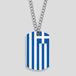 Greece Flag Dog Tags