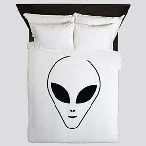 Alien face Queen Duvet