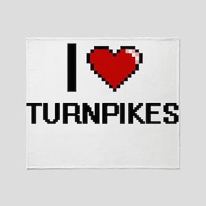 I love Turnpikes digital design Throw Blanket
