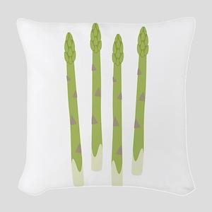 Asparagus Woven Throw Pillow