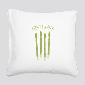 Grown Locally Square Canvas Pillow
