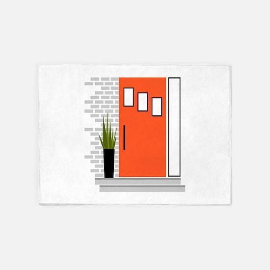 Red Door 5'x7'Area Rug