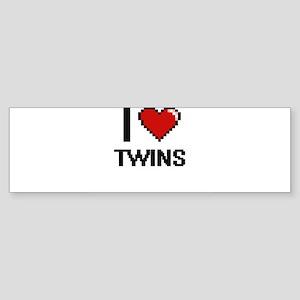 I love Twins digital design Bumper Sticker