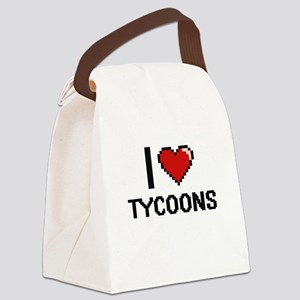 I love Tycoons digital design Canvas Lunch Bag