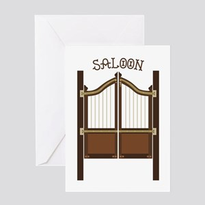Saloon Doors Greeting Cards