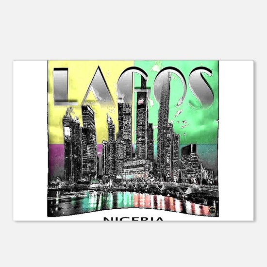 lagos nigeria Postcards (Package of 8)