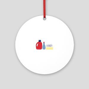 Laundry Round Ornament
