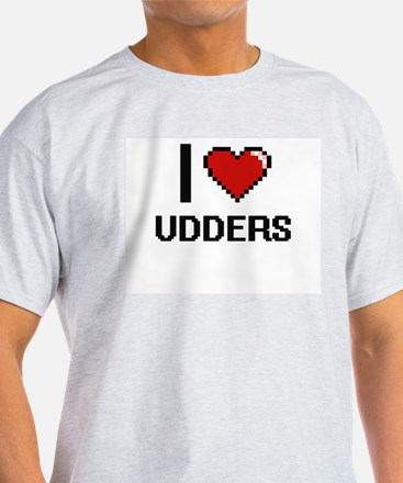 I love Udders digital design T-Shirt