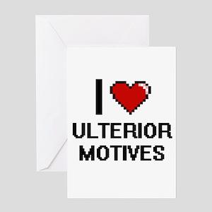 I love Ulterior Motives digital des Greeting Cards