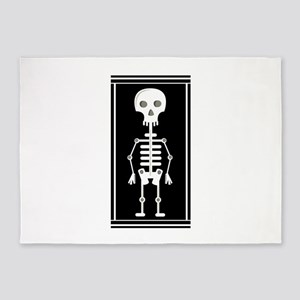 Skeleton 5'x7'Area Rug