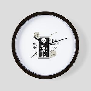 See Through You Wall Clock