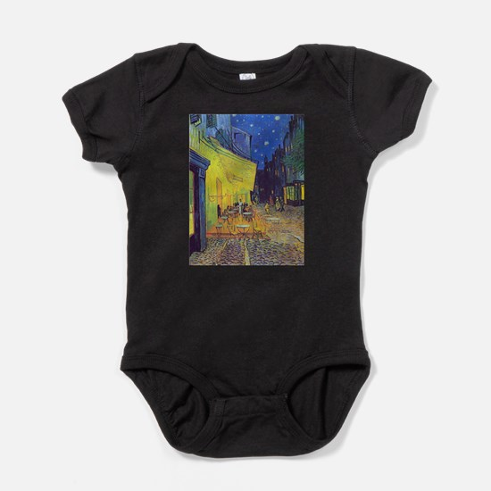 cafe terrace at night Baby Bodysuit
