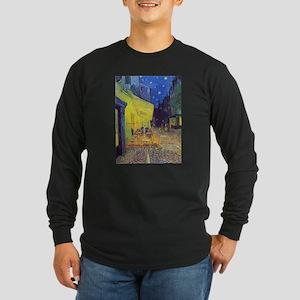 cafe terrace at night Long Sleeve T-Shirt