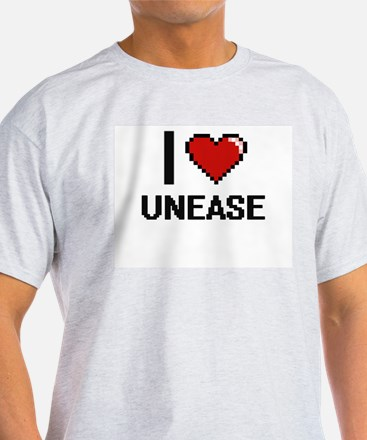 I love Unease digital design T-Shirt