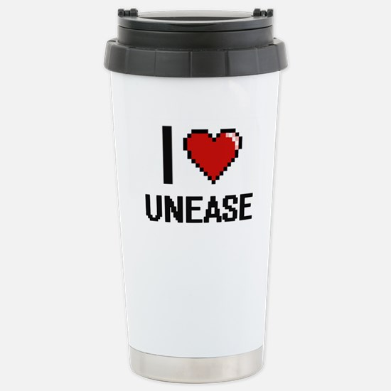 I love Unease digital d Stainless Steel Travel Mug