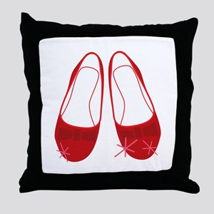 Ruby Sllippers Throw Pillow