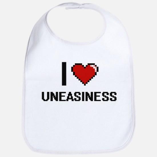 I love Uneasiness digital design Bib