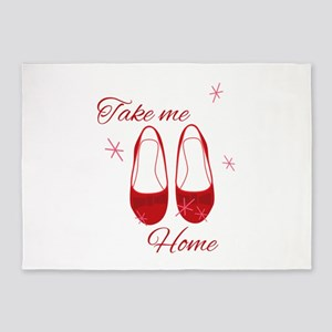 Take Me Home Slippers 5'x7'Area Rug