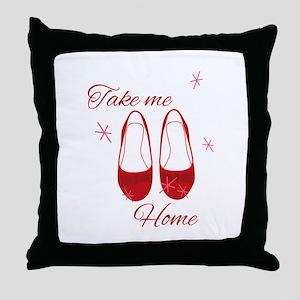 Take Me Home Slippers Throw Pillow