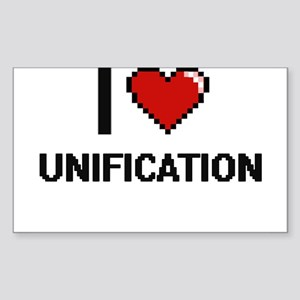 I love Unification digital design Sticker
