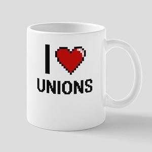 I love Unions digital design Mugs