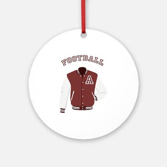 Football Jacket Round Ornament