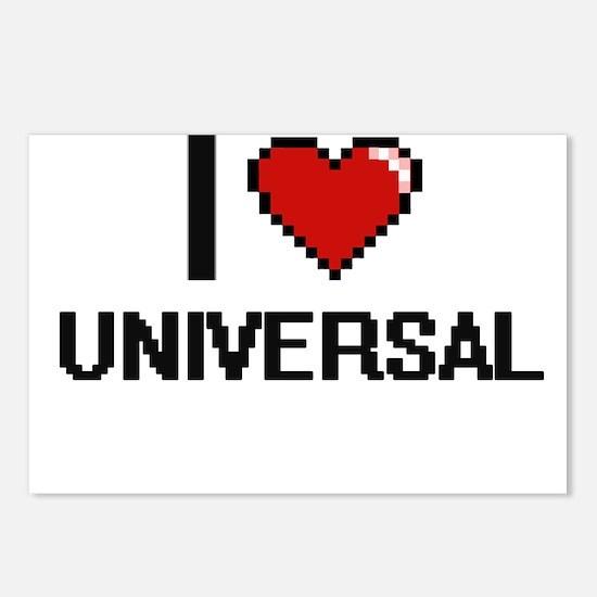 I love Universal digital Postcards (Package of 8)