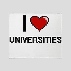 I love Universities digital design Throw Blanket
