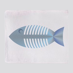 fish bones Throw Blanket