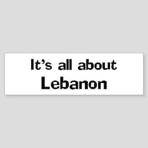 About Lebanon Bumper Sticker