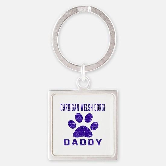 Cardigan Welsh Corgi Daddy Designs Square Keychain