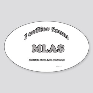 Lhasa Syndrome Oval Sticker