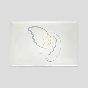 Angel Outline Magnets