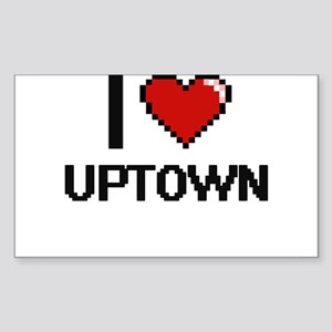 I love Uptown digital design Sticker