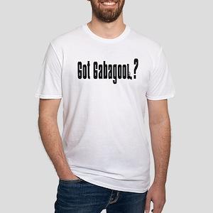 Got Gabagool? White Fitted T-Shirt