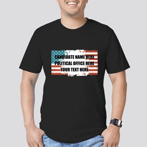 Personalized USA Presi Men's Fitted T-Shirt (dark)