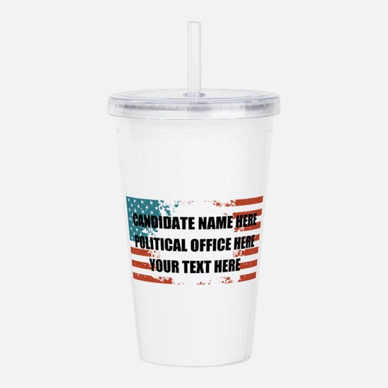 Personalized USA Presi Acrylic Double-wall Tumbler