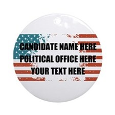 Personalized USA President Round Ornament