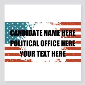 "Personalized USA Preside Square Car Magnet 3"" x 3"""