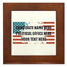 Personalized USA President Framed Tile