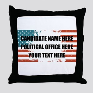 Personalized USA President Throw Pillow