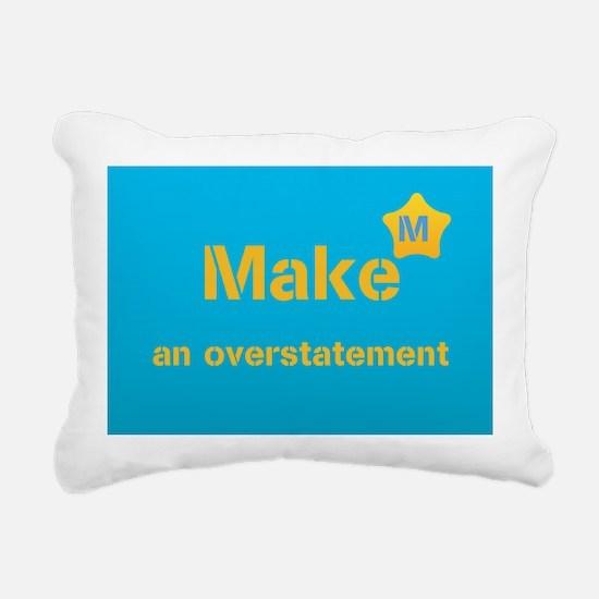 Cool Bright Blue Rectangular Canvas Pillow