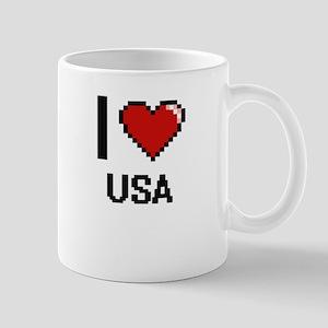 I love Usa digital design Mugs