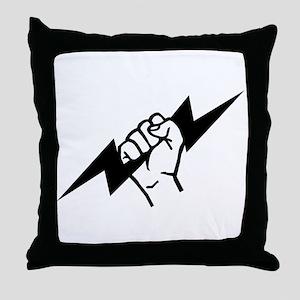 Flash Electrician Throw Pillow