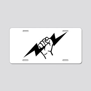 Flash Electrician Aluminum License Plate