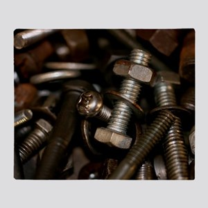 Nut Bolts and Washers Throw Blanket