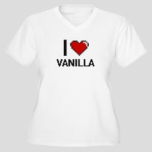 I love Vanilla digital design Plus Size T-Shirt