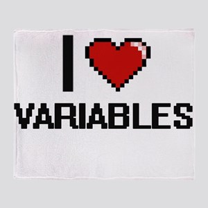 I love Variables digital design Throw Blanket