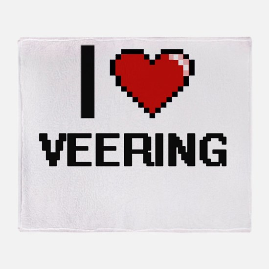 I love Veering digital design Throw Blanket